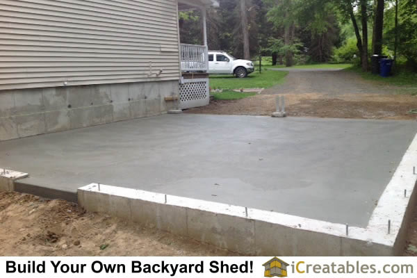 Awesome This Is The Garage Concrete Slab Freshly Poured And Finished.