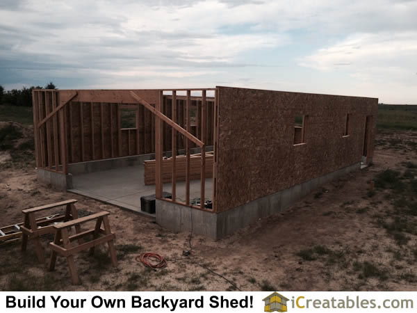 O.S.B. panels are installed on the framed walls to strengthen the walls and provide a base for the siding.