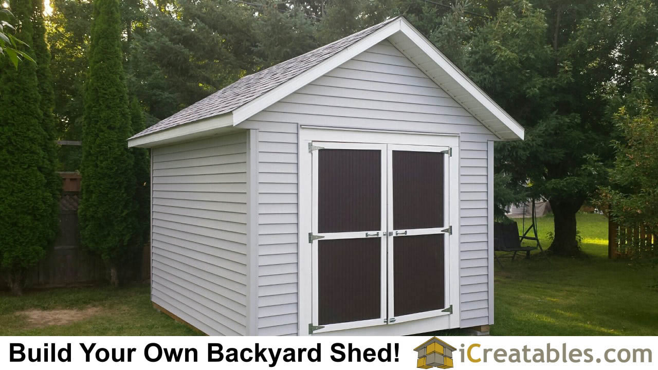 10x12 backyard shed plan