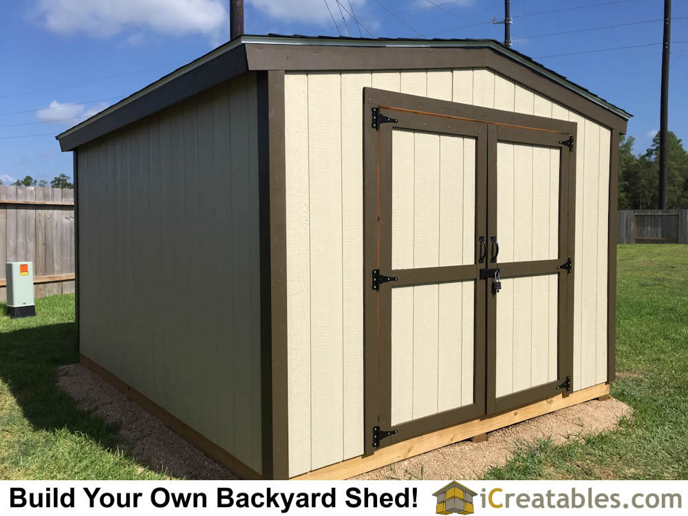 Completed 10x12 backyard shed.