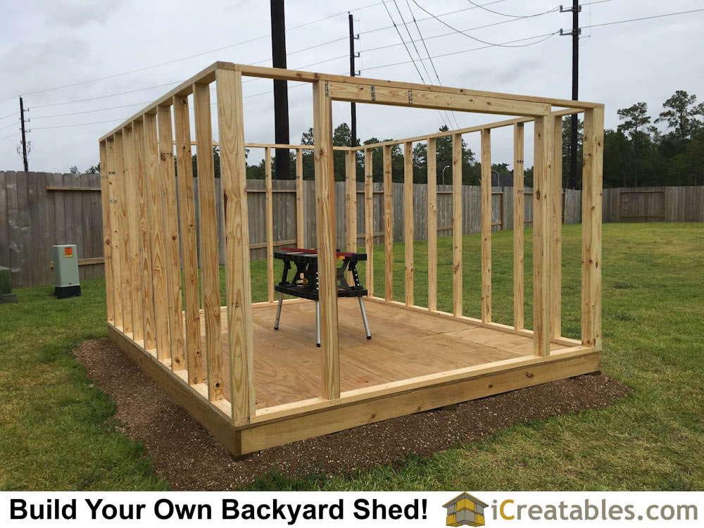 10x12 Backyard Shed Walls Build.   Pictures Of Backyard Shed Plans Backyard  Shed Photos