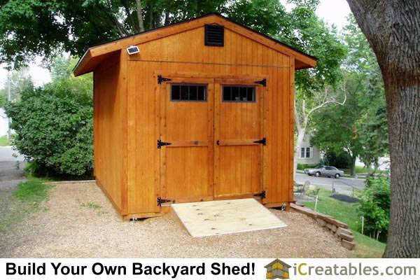 10x14 Shed Plans Front