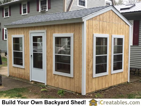 10x16 backyard screen shed