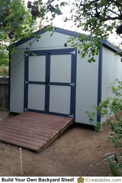 12x12 Backyard Shed With Ramp Installed At Home Built Shed Doors
