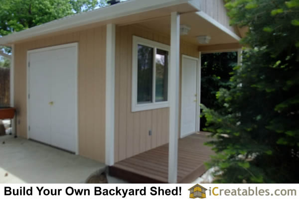 12x16 Shed plan with porch.