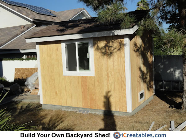 8x10 Backyard Shed Roofing Install
