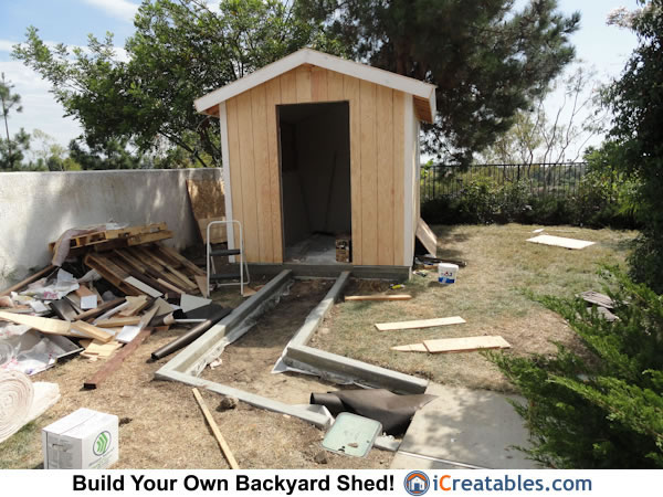 Incroyable 8x10 Backyard Shed Pathway