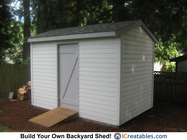 8x12 backyard shed front view