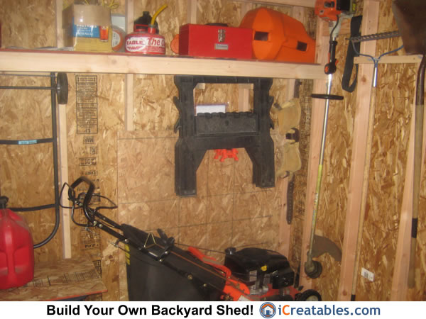 Backyard Shed Storage Shelves