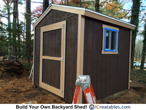 8x8 shed built from plans by iCreatables.com