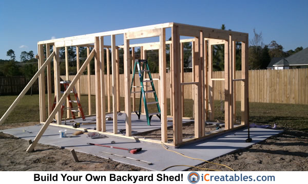 10x16 Cape Cod Shed wall framing