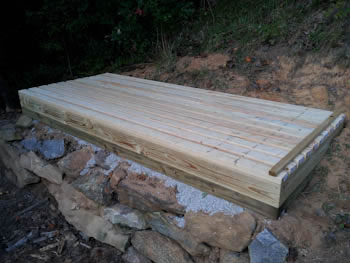 4x10 Firewood shed floor framing