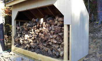 4x10 firewood shed plans with firewood storage inside