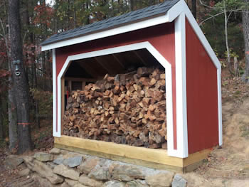 4x10 firewood shed