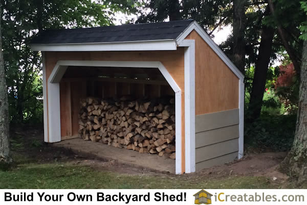 4x12 Firewood shed siding install