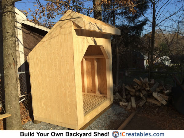 4x6 firewood shed plans siding installed