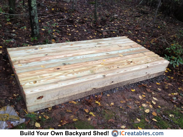 4x8 firewood shed floor boards