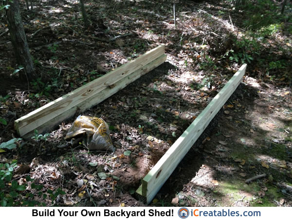 4x8 firewood shed foundation