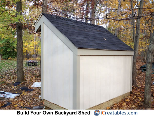 4x8 firewood shed rear view