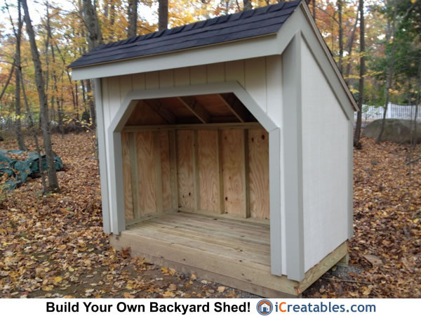 4x8 firewood shed