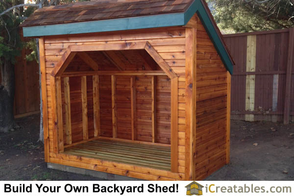 4x8 firewood shed right side plans