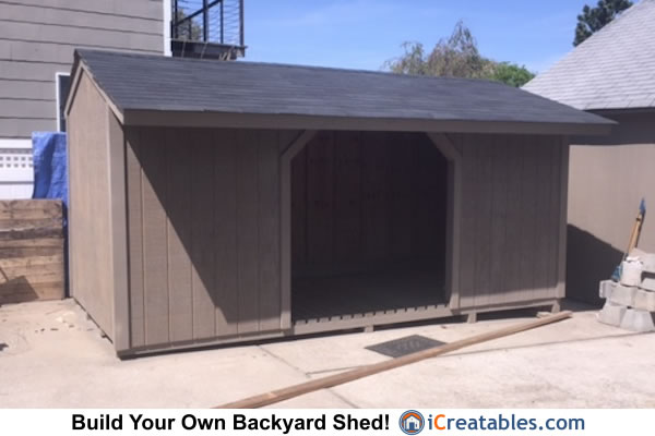 Garden Sheds 8 X 16 8x16 firewood shed plans | icreatables