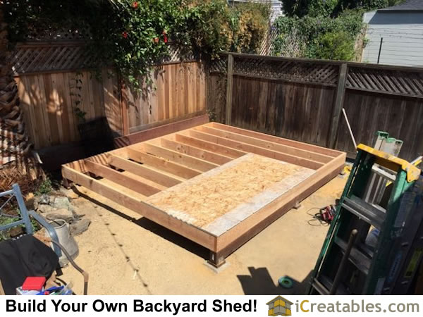 Small barn shed floor framing