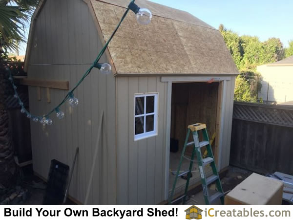 Shed plans roof construction