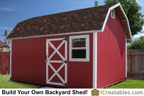10x16 Gambrel Shed Front