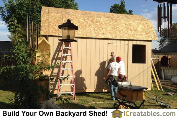 10x16 gambrel shed door set