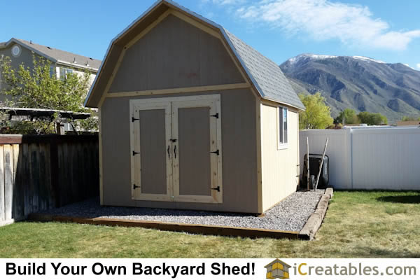 Pictures of gambrel sheds photos of gambrel sheds for 12x14 garage door