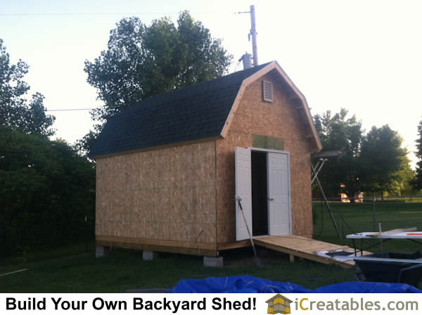 12x16 gambrel shed right