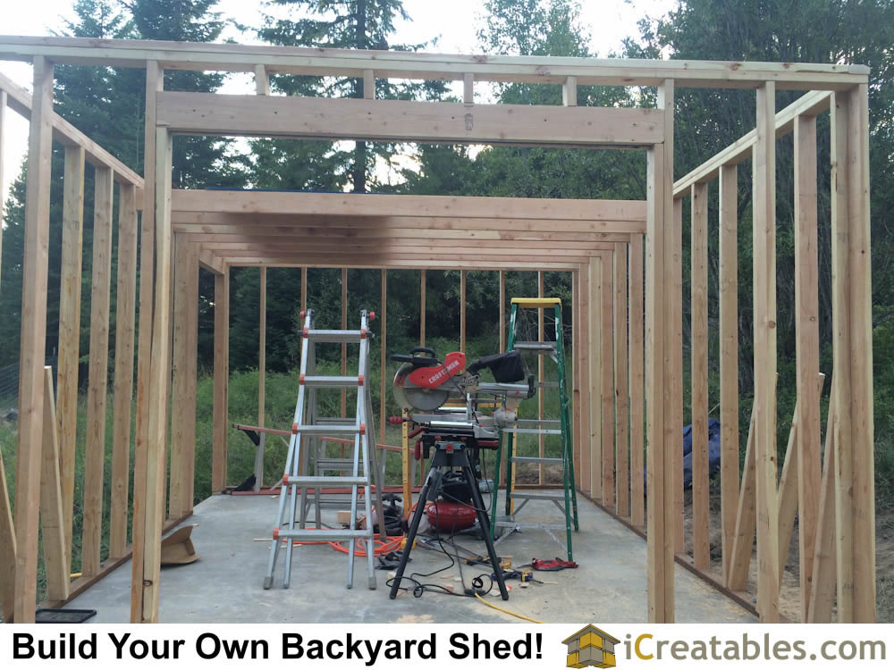 Great photo of how to build a shed with a loft. Instructions on how to buid a storage shed loft are included with the shed plans.
