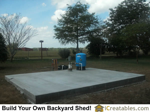 12x16 Concrete slab for garden shed plans