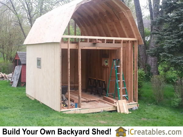 12x16 gambrel barn roof framing