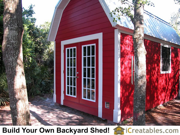 12x16 Gambrel Shed Plan front right