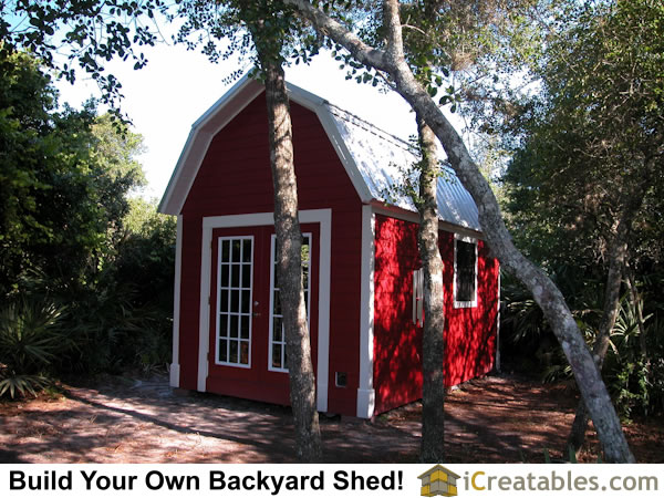 12x16 Gambrel Shed small barn plan