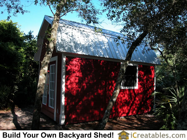 12x16 Gambrel Shed backyard shed right side