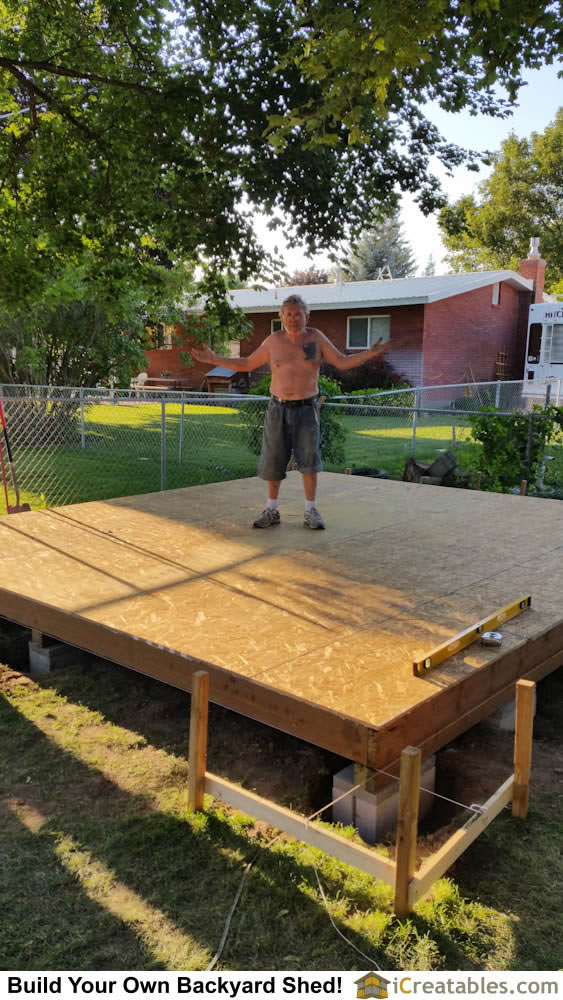Building a shed floor is easy!