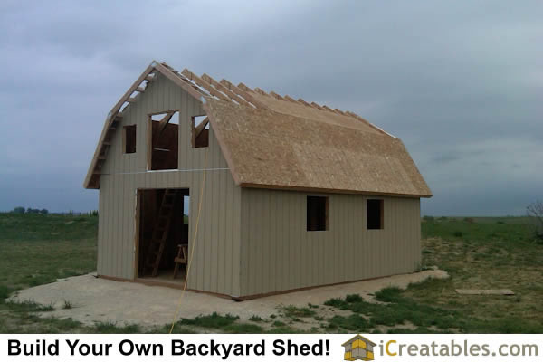 16x24 Gambrel Shed With Loft
