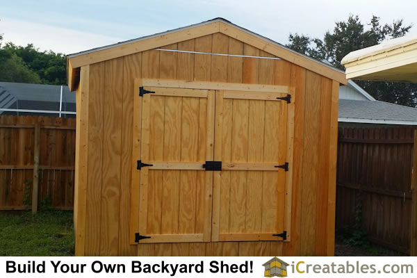 10x12 gable shed front