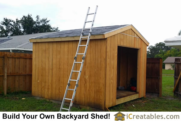 10x12 backyard shed plans roof install - Garden Sheds Florida