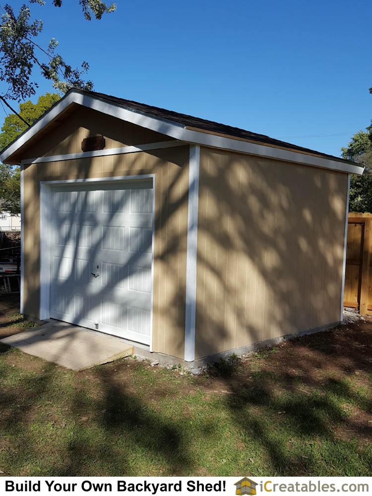 Garage Shed Plans Buy Diy Detached Garage Designs Today