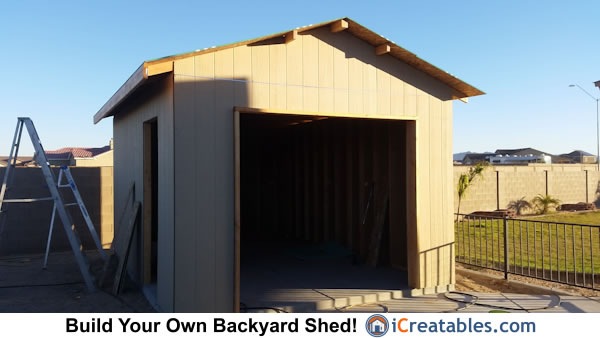 Garage door shed designs fascia install