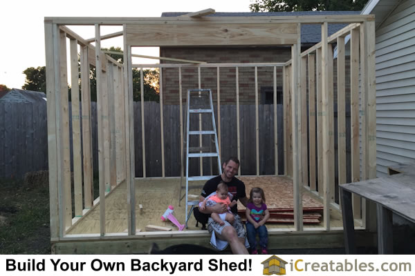 12x16 shed plan wall framing and garage door headers