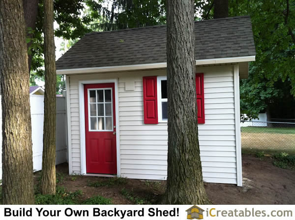10x12 Garden Shed Cape Cod Style by iCreatables.com