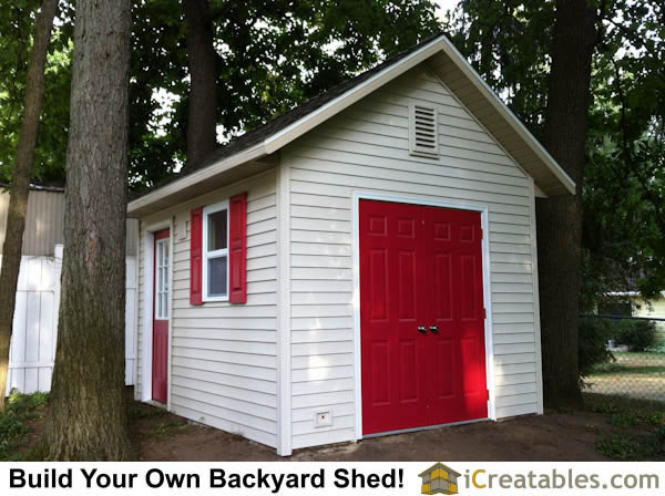 10x12 Garden storage shed plans by iCreatables.com