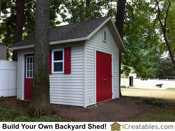 10x12 Cape Cod style shed.