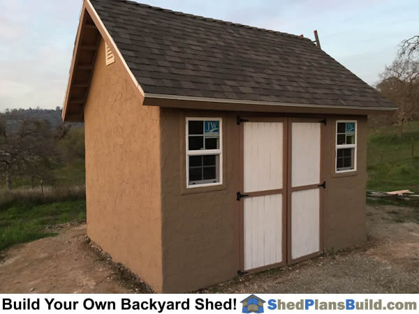 12x16 garden shed plans with stucco