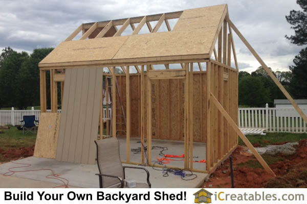 8x12 Backyard Shed front Elevation